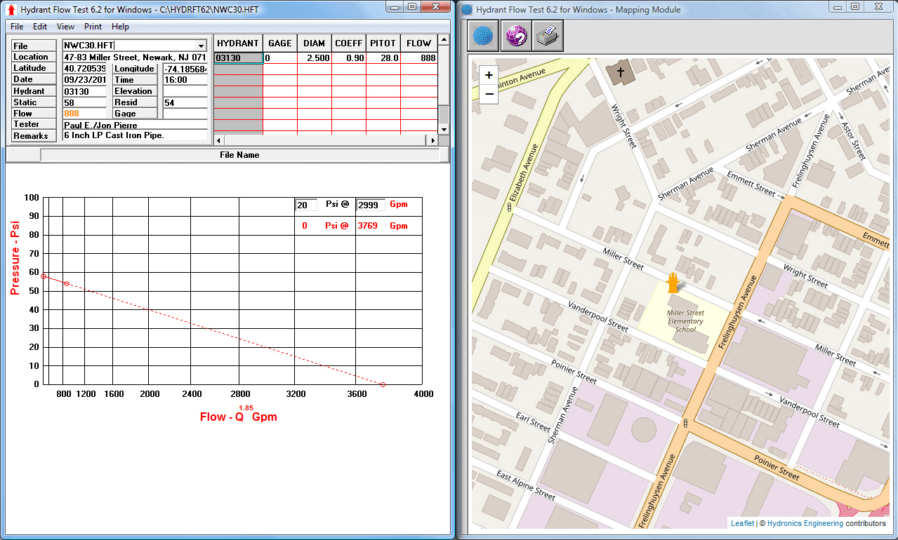 Hydrant Flow Test - Mapping Module