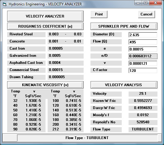 Commercial 5.8 for Windows - Velocity Analyzer Utility